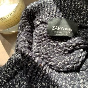 Zara chunky knit sleeveless sweater top